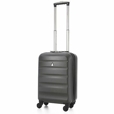 Aerolite 55x35x20 IATA ABS Coque Rigide Main Cabine Valise Bagage 4W Fileur