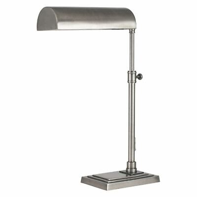 Antique Silver Adjustable Reading Table Lamp