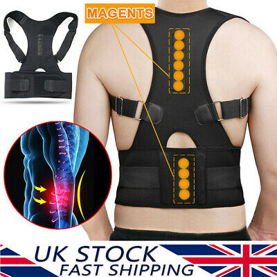 Neoprene Magnetic Posture Corrector Back Lumbar Shoulder Support Brace Adult Kid