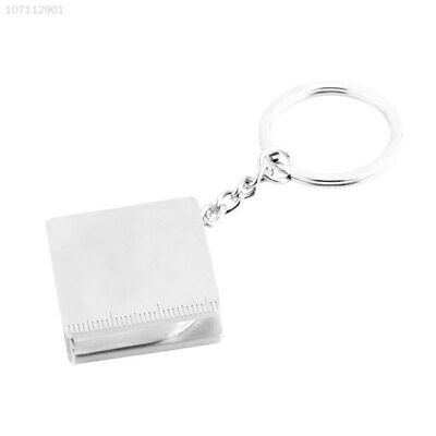 4BB3 ABBE Keychain Metal Tape Measure Compact Portable Keyring Gift Decoration