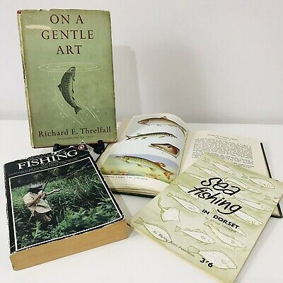 Vintage Fishing Books On A Gentle Art Freshwater Fishes Of British Isles 40s 50s