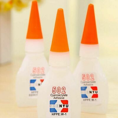 10pc 502 Super Glue Instant Cyanoacrylate Adhesive Strong Bond Fast Repair W7A2