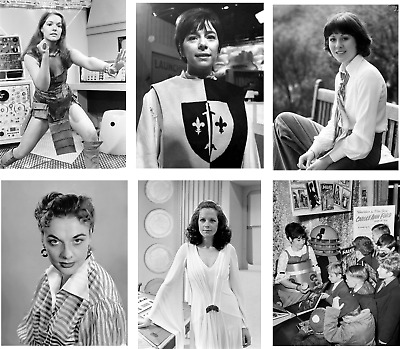 Dr Who Vintage Job Lot Of 20 B/W Photographs 7 X 5 Female Assistants Girls