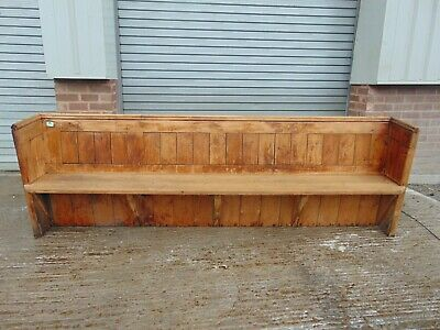 Antique Pine Church Pew 849