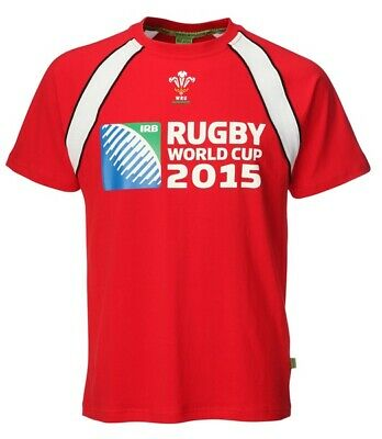 New Men's WRU Official Wales RWC Welsh Rugby World Cup 2015 T-Shirt
