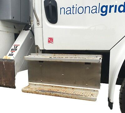 Freightliner M2 Truck Passenger Step Kickplate Exhaust Cover Stainless Steel