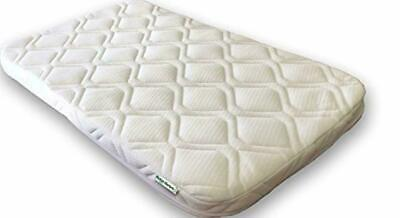 UK Made Deluxe Thermo Bedside Crib Mattress 84x50x5cm (Fits Chicco Next 2 Me)
