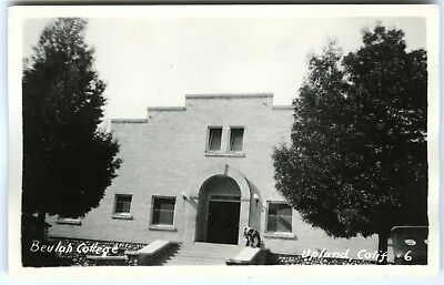 "1920s UPLAND CALIFORNIA ""BEULAH COLLEGE"" SAN BERNARDINO~RPPC REAL PHOTO POSTCARD"