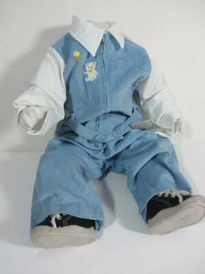 NWT's vintage 70's dungarees baby blue cord cotton age 6 months to 18 months eco