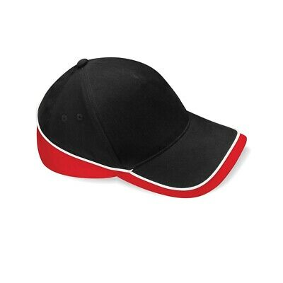 Beechfield Teamwear Competition Cap Black/classic Red/white O/s