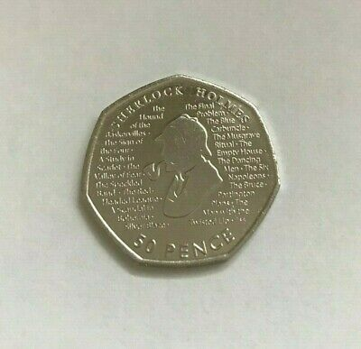 New 2019 Sherlock Holmes 50p Fifty Pence Coin Rare Collectible