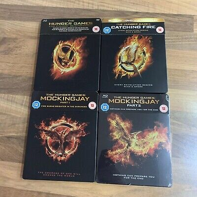 The Hunger Games Blu-Ray Steelbook Complete Collection - Jennifer Lawrence - UK