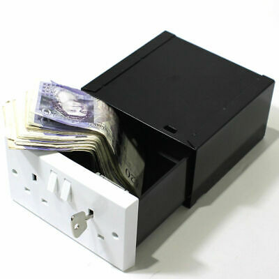 Imitation Double Plug Socket Wall Safe Security Secret Hidden Stash Box Covert