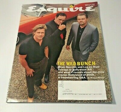 ESQUIRE MAGAZINE   ISSUE # 7 SUMMER 2019 -The Wild Bunch Brad, Quentin, And Leo