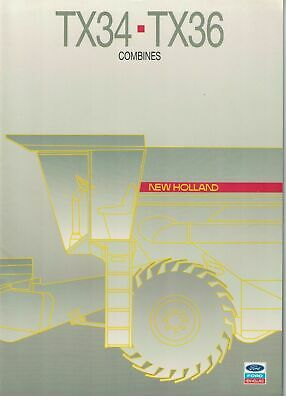 Ford New Holland TX Series TX34 TX36 Combines Brochure / Leaflet 1987 6229F