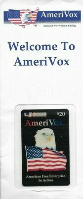1990's Amerivox Bald Eagle Collectible Prepaid Phone Card