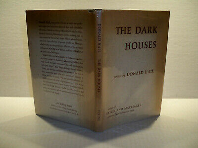 The Dark Houses D. Hall 1st Ed 1958 hardcover w/dj inscribed