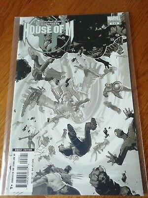 House Of M #8 Variant Bachalo Marvel 2005 Rare Nm Bendis Coipel Event
