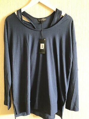 Next Maternity Double Layer Lightweight Blue Top Size 12