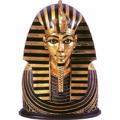 Lifesize Tutankhamun King Tut Egyptian Pharaoh Head Bust 2FT Wall Sculpture