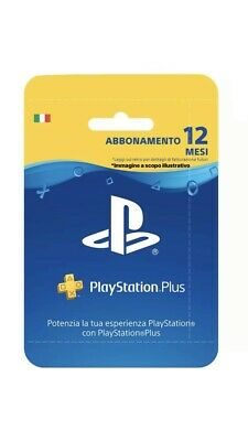 Abbonamento PLAYSTATION PLUS 12 Mesi - PS4/PS3/PS VITA -ITA-INVIO IMMEDIATO MAIL