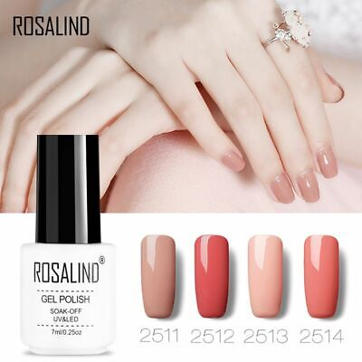 ROSALIND 7ML UV Soak Off Nude Nail Polish Hybrid Varnish Semi Permanent Manicure