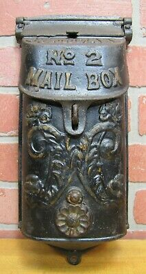 Old Cast Iron STANDARD No 2 MAILBOX Flower Mail Flap Decorative Arts Hardware