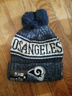 d15cea81 2018 Los Angeles Rams New Era Knit Hat On Field Sideline Beanie Stocking Cap