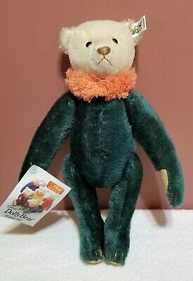 "Steiff Green Dolly Bear.  12"" tall. Tags attached.  LE"