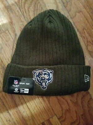 6392dbc3 NEW ERA CHICAGO Bears Knit Hat On Field Cap Pom Beanie Winter Toque ...