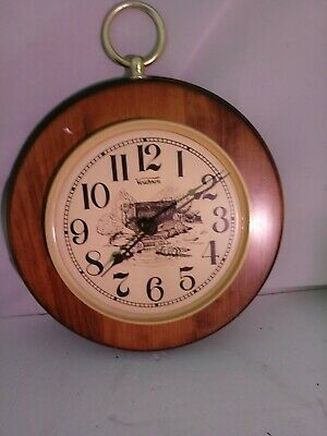 vintage VERICHRON Working Wall Clock Kitchen Battery  Made In USA