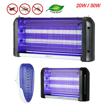 20/30W Electronic UV LED Mosquito Killer Light Indoor Insect Fly Bug Zapper Lamp