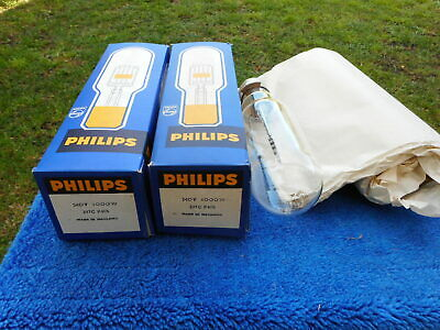 Philips Lamps x 2,   Type 297c  or  (A/188)  240v  1000w  Holland, New Old Stock