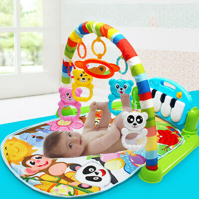New Soft Baby Gym Floor Play Mat Musical Activity Center Kick And Play Piano Toy