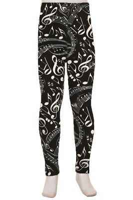 Musical Notes Amazing Buttery Soft Leggings Kid's S/M & L/XL