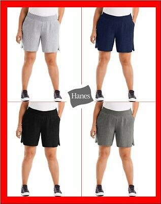 Just My Size Hanes Womens Cotton Jersey Pull-On Shorts Size 1X - 5X Brand New
