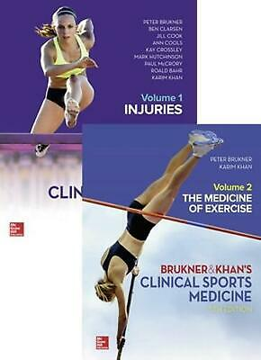 VALUE PACK CLINICAL SPORTS MEDICINE 5E - VOL 1 & 2 by Peter Brukner Free Shippin
