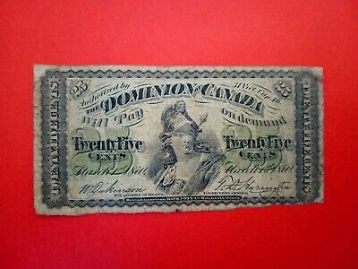 Banknote Canada 1870(f)25cents (fractional currency)