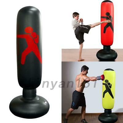 Kids Adult Inflatable Boxing Punching Bag Kick Training Tumbler MMA Sandbags AU