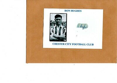 Ron Hughes (Chester City) signed card
