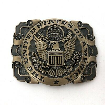 Solid Brass The United States Of America ADM Award Design Medals Belt Buckle USA
