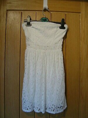 Abercrombie & Fitch Strapless White Lined Dress Kids M (Ref L) Ex Con
