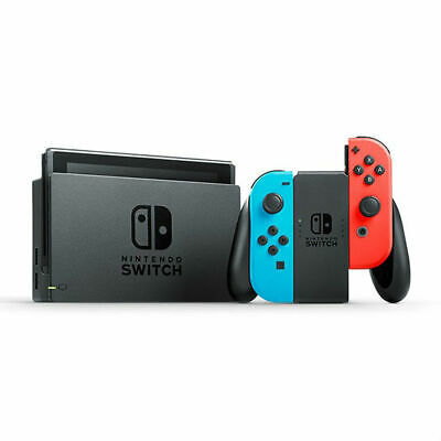 Nintendo Switch+ Neon Blue and Red Joy‑Con+ Switch Pro Controller- Splatoon 2