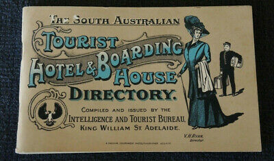 c1912 SOUTH AUSTRALIAN TOURIST HOTEL & BOARDING HOUSE DIRECTORY 2nd edition
