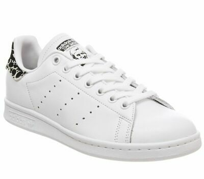 new product 67741 be3b0 WOMENS ADIDAS STAN Smith Trainers Off White Core Black Shock Pink Animal  Exclusi