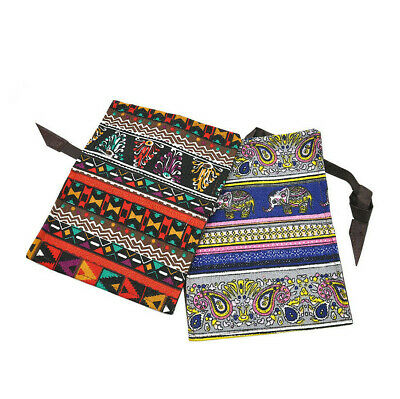 1 X Ethnic Style Vintage Tobacco Pouch Bag with 78/70MM Rolling Paper Holder