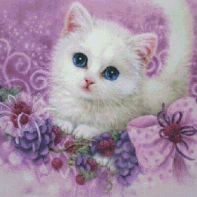 Cute Cat Animal 5D DIY Drill Diamond Painting Craft Cross Stitch Kits Embroidery
