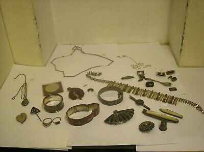 Job lot Of Antique ? Scrap silver / usuable ?. 330g