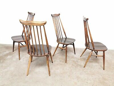 Ercol Windsor Goldsmith Dining Chairs Vintage Retro 1960's Mid Century