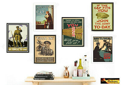 Briton World War Army Wants You Posters Prints ONLY Wall Art Gift WW2 A4 or A3